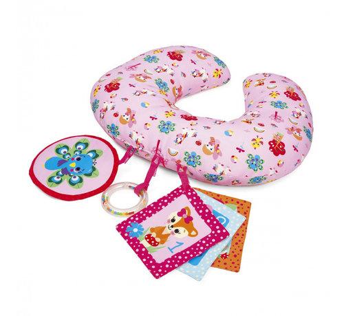 Chicco speelkussen meisjes 40 cm pluche roze