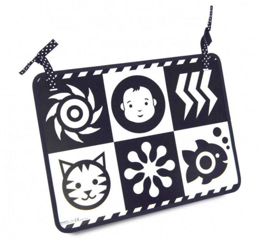 spiegel Wimmer-Ferguson polyester zwart/wit