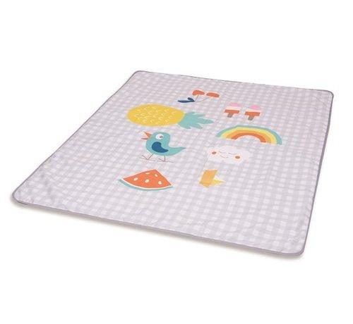 Taf Toys waterafstotende speelmat Outdoor junior 140 cm grijs/wit