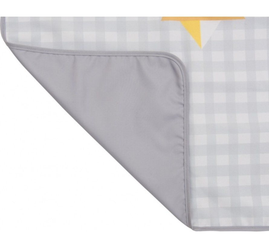 waterafstotende speelmat Outdoor junior 140 cm grijs/wit