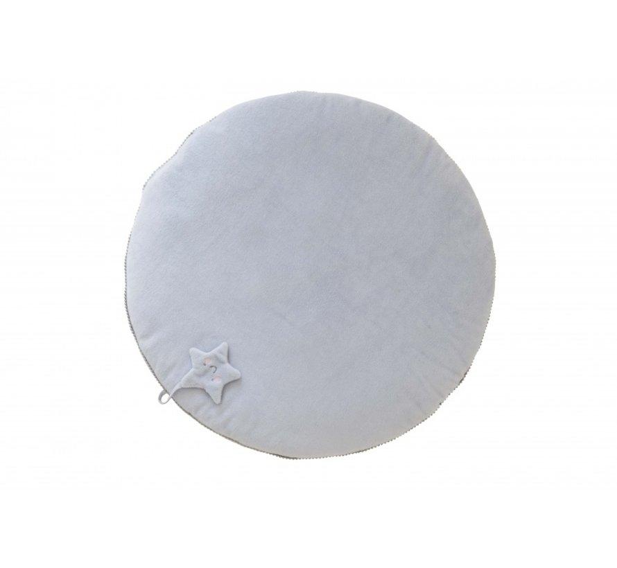 speelkleed Star diameter 78 cm wit/grijs