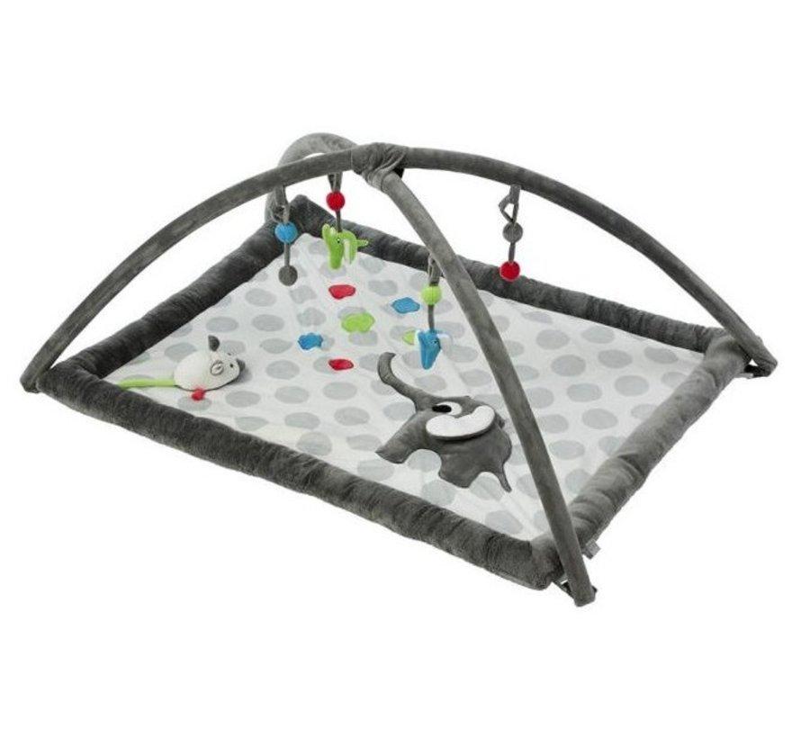 speelkleed Olifant 93 cm donkergrijs/grijs/wit