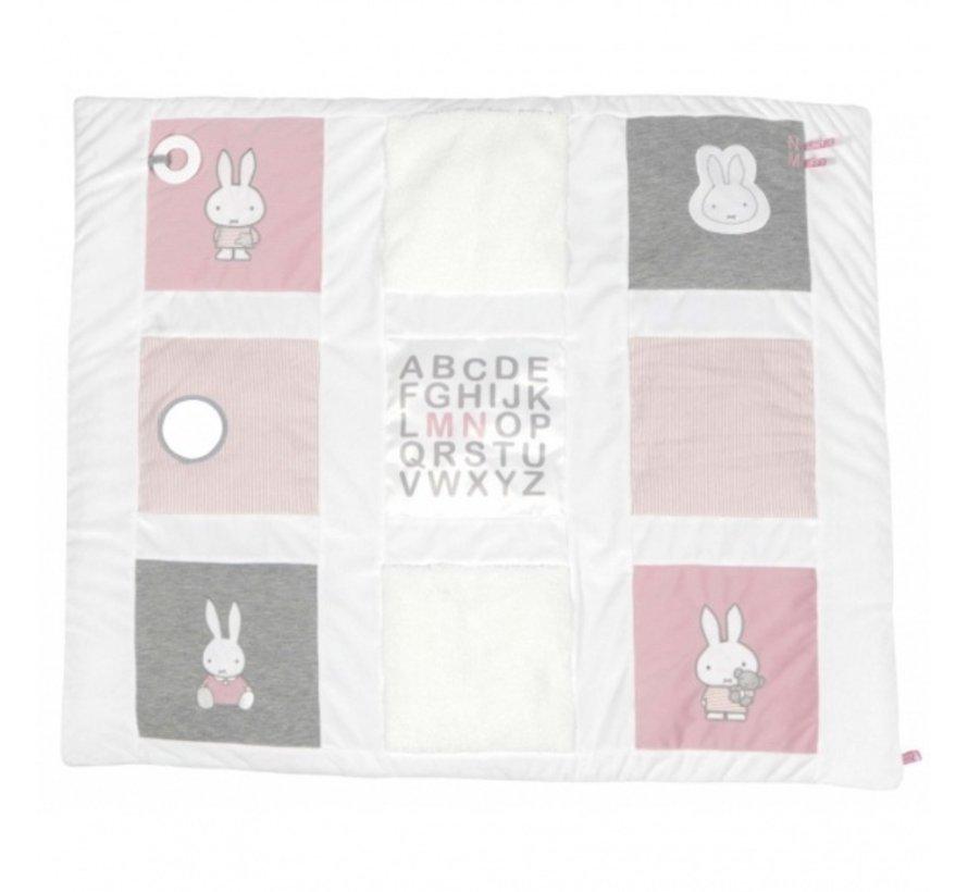 boxkleed Pink Rib-serie meisjes 85 x 100 cm roze/wit