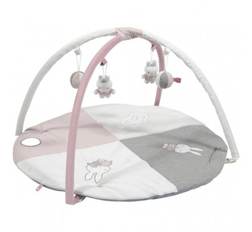 Nijntje speelkleed & babygym Pink Rib meisjes 85 cm roze/wit