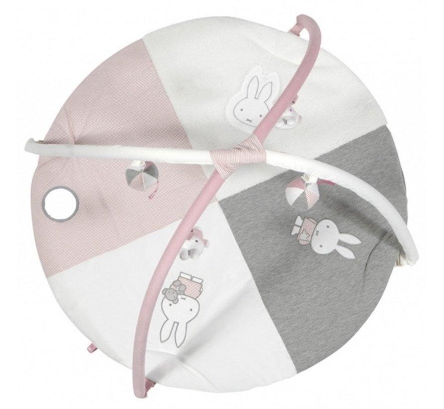 speelkleed & babygym Pink Rib meisjes 85 cm roze/wit
