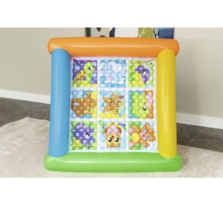 opblaasbare speelmat 132 x 23 cm multicolor