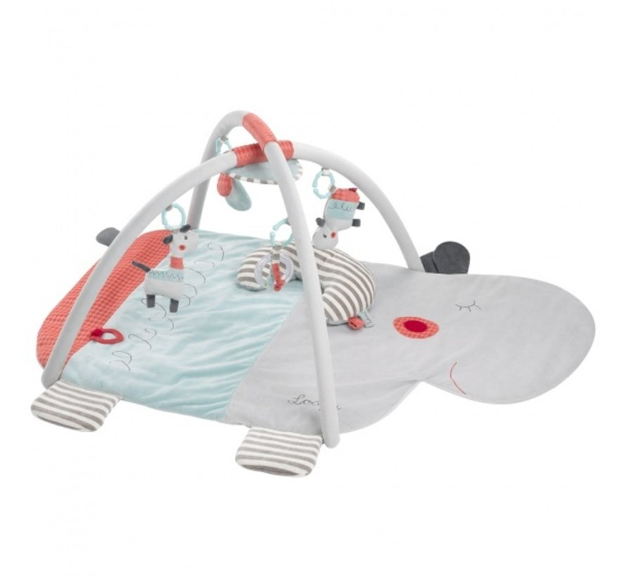 activity speelkleed Nijlpaard lichtgrijs 110 cm