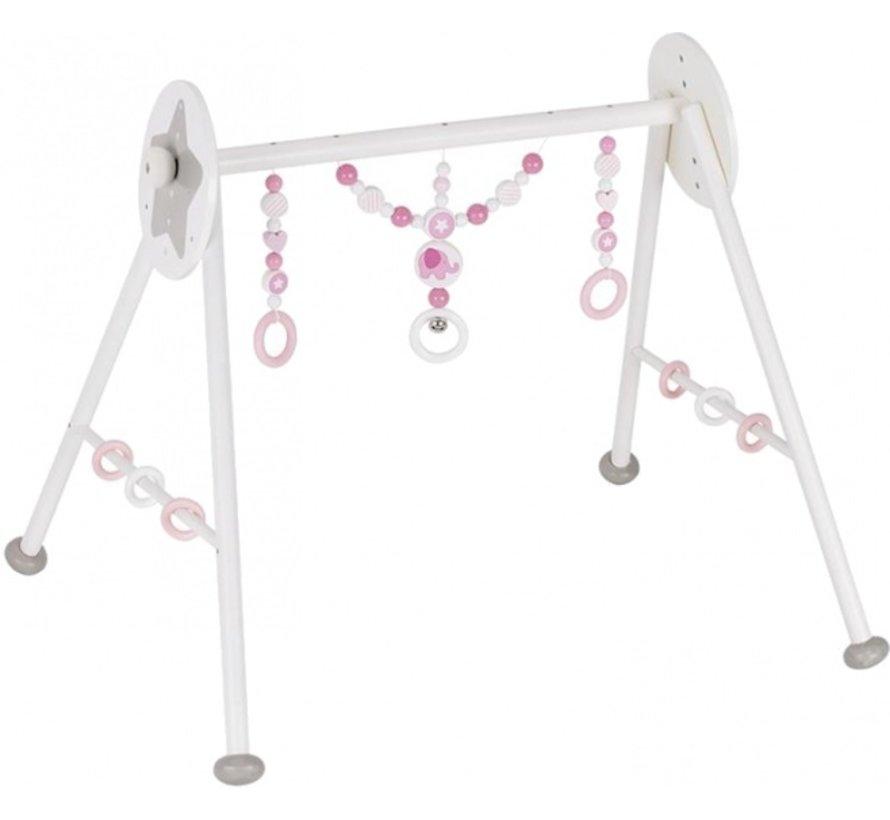 baby-gym Olifant 63 x 55 x 53 cm wit/roze