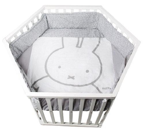 Roba babybox Miffy zeshoek junior 121 x 106 cm hout wit