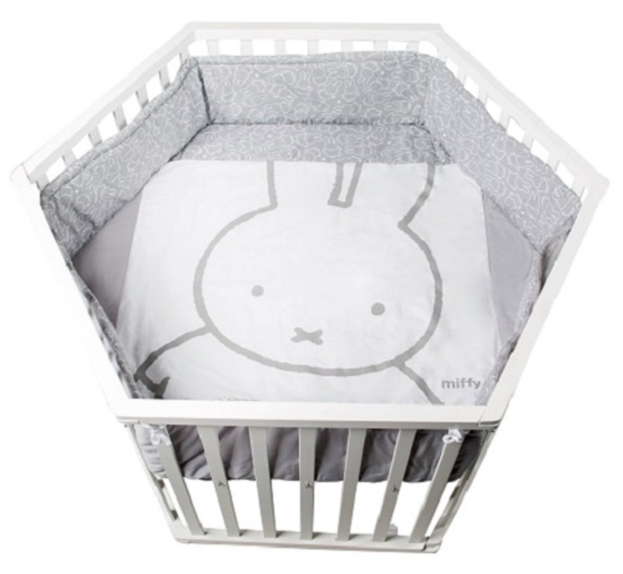 babybox Miffy zeshoek junior 121 x 106 cm hout wit