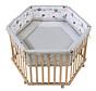 babybox Cosiplay zeshoek 121 x 106 cm hout naturel
