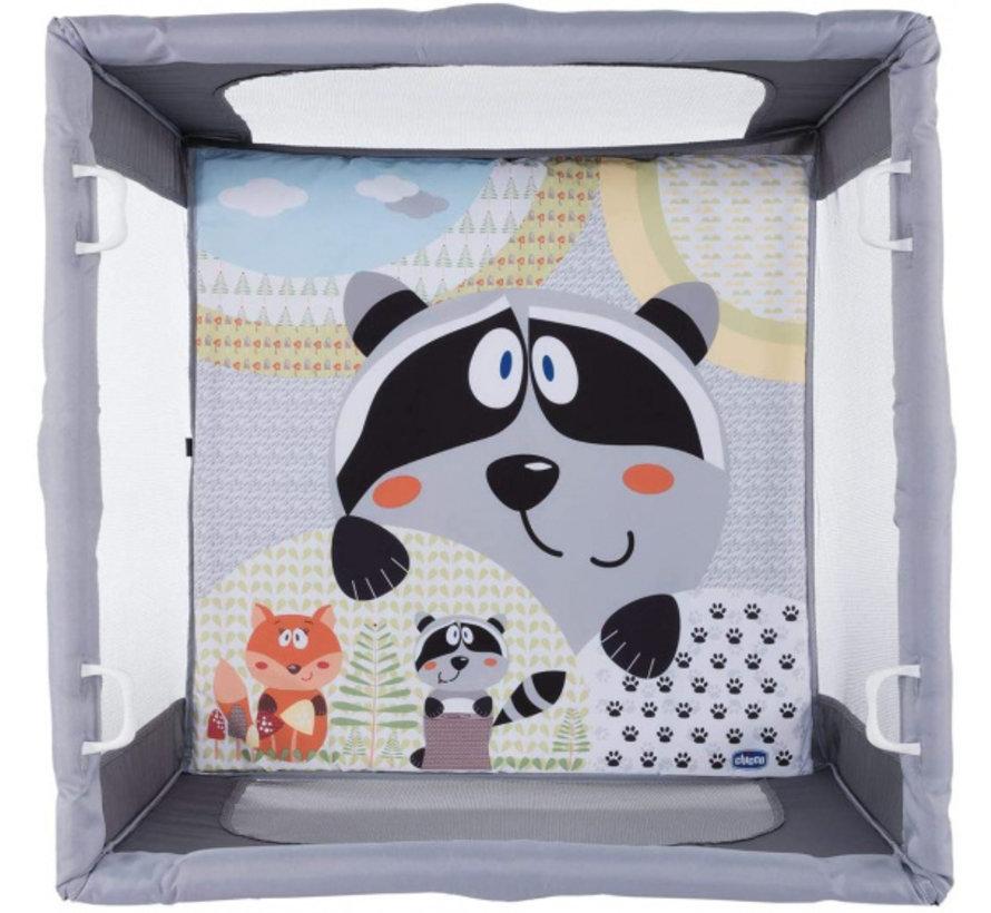 box Open park junior 94,5 cm polyester grijs