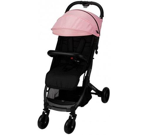 Interbaby kinderwagen Silla 84 x 99 x 51 cm polyester zwart/roze
