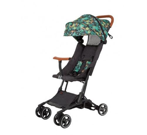 Bizzi Growin kinderwagen Jungle Roar 4 wielen zwart/groen