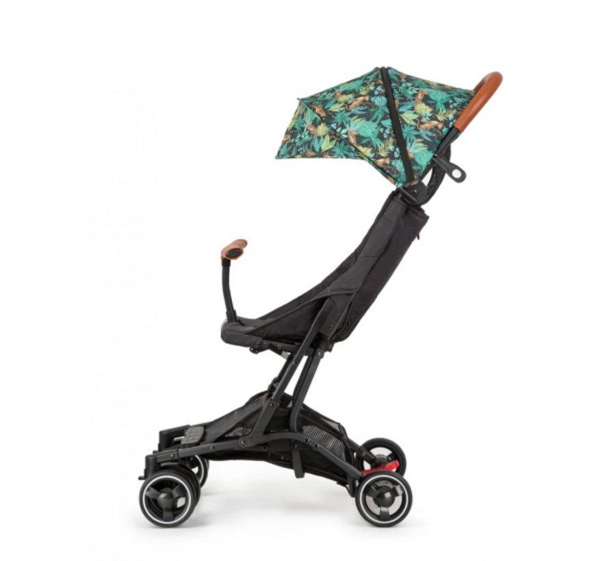 kinderwagen Jungle Roar 4 wielen zwart/groen