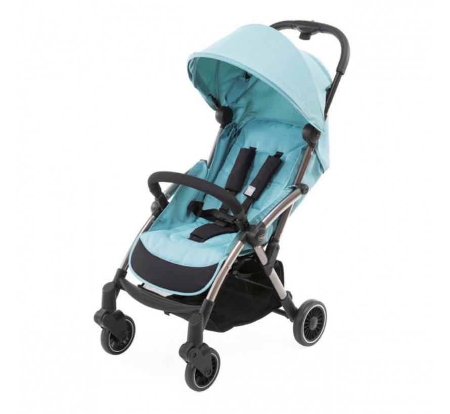 buggy Cheerio 97 cm polyester/aluminium blauw/zwart