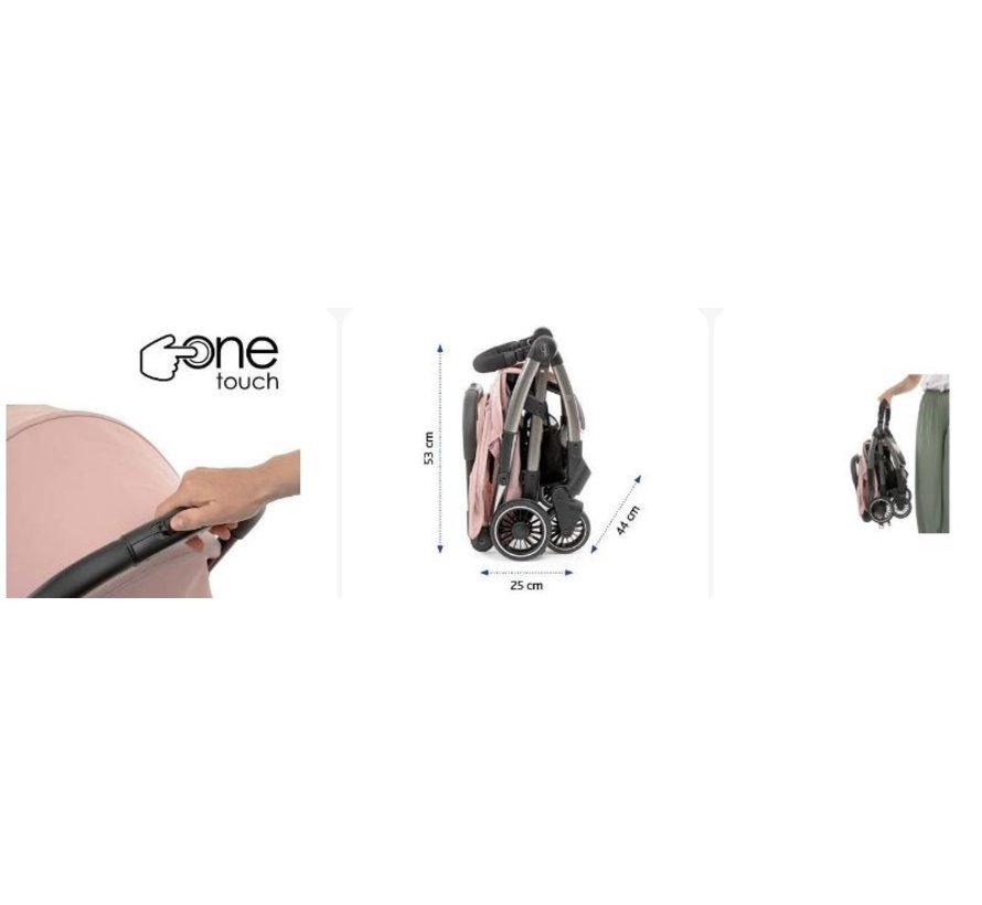 buggy Cheerio 97 cm polyester/aluminium roze/zwart