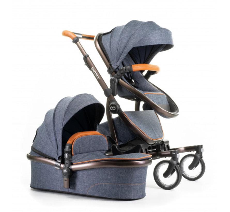 kinderwagen One sportstoel/reiswieg 108 cm blauw