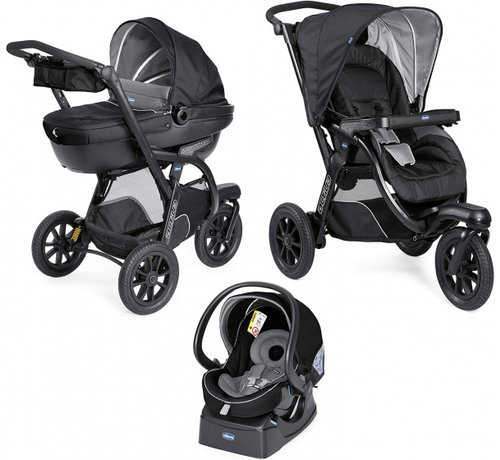 Chicco kinderwagen 3-in-1 Activ3 Top polyester zwart 12-delig