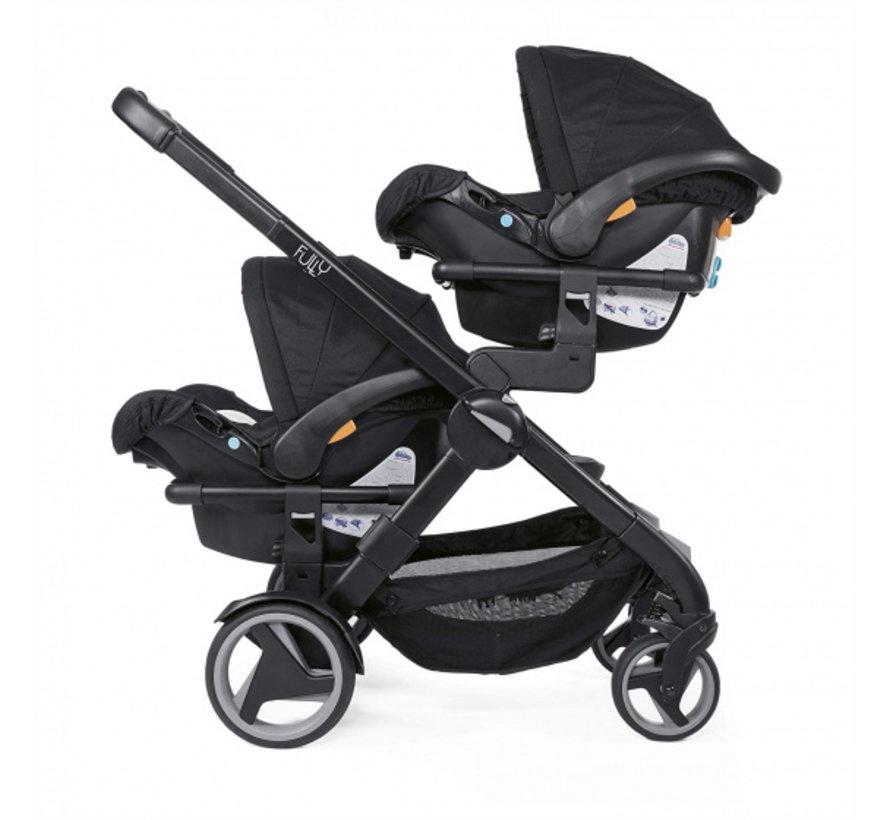 buggy Double Stroller 108 cm aluminium zwart 5-delig