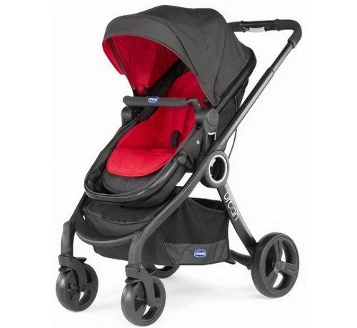 Chicco kinderwagen Urban Plus aluminium rood/zwart 9-delig
