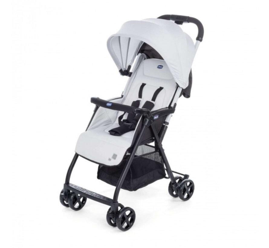 buggy Ohlala-2 101 cm polyester/aluminium wit/zwart
