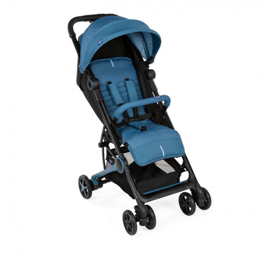 buggy Miinimo-3 104 cm polyester/aluminium blauw/zwart
