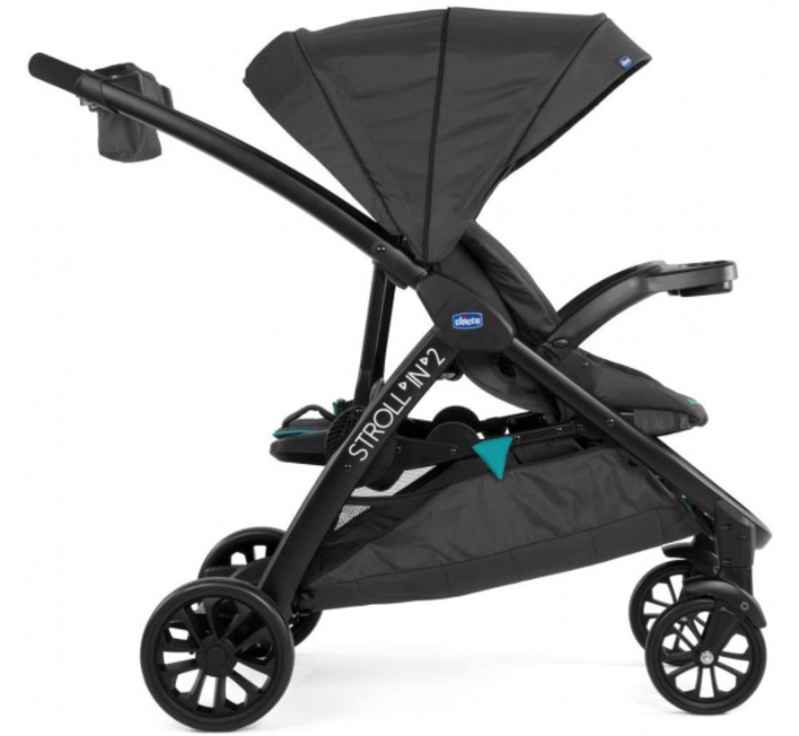 buggy Stroll'In-2 junior 104 cm polyester/aluminium zwart
