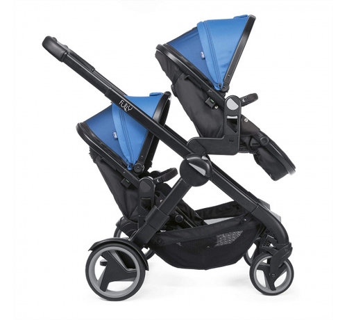 Chicco buggy Double Stroller 108 cm polyster/aluminium blauw