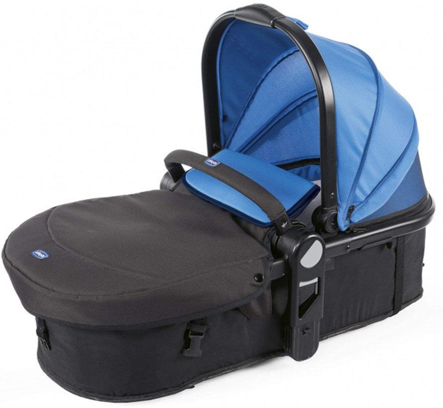 buggy Double Stroller 108 cm polyster/aluminium blauw