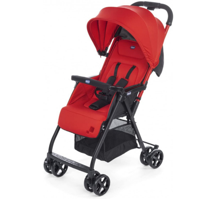 buggy Ohlala-2 101 cm polyester/aluminium rood/zwart