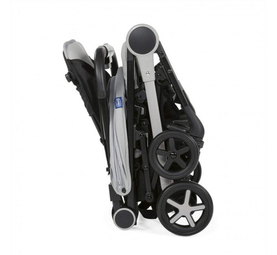 buggy Miinimo-3 104 cm polyester/aluminium grijs/zwart