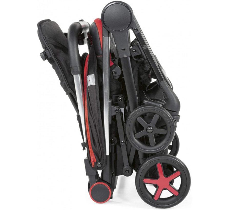 buggy Miinimo-3 104 cm polyester/aluminium zwart/rood