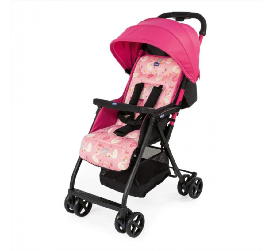 buggy Ohlala-2 Pink Swan 101 cm polyester/aluminium roze