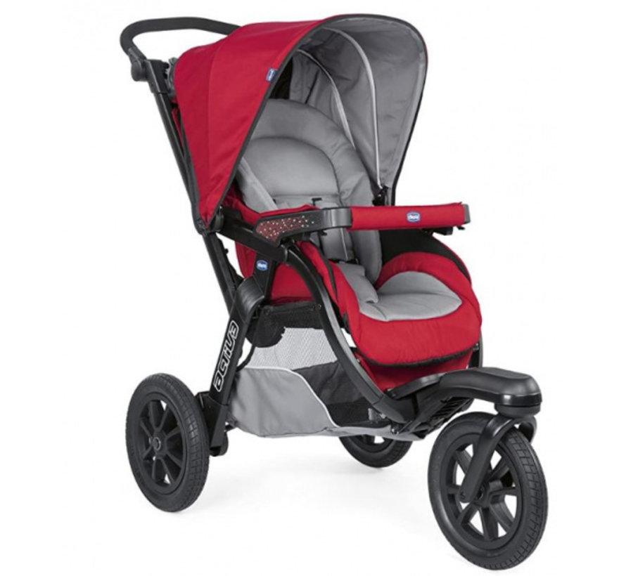 kinderwagen 3-in-1 Activ3 Top polyester rood/grijs