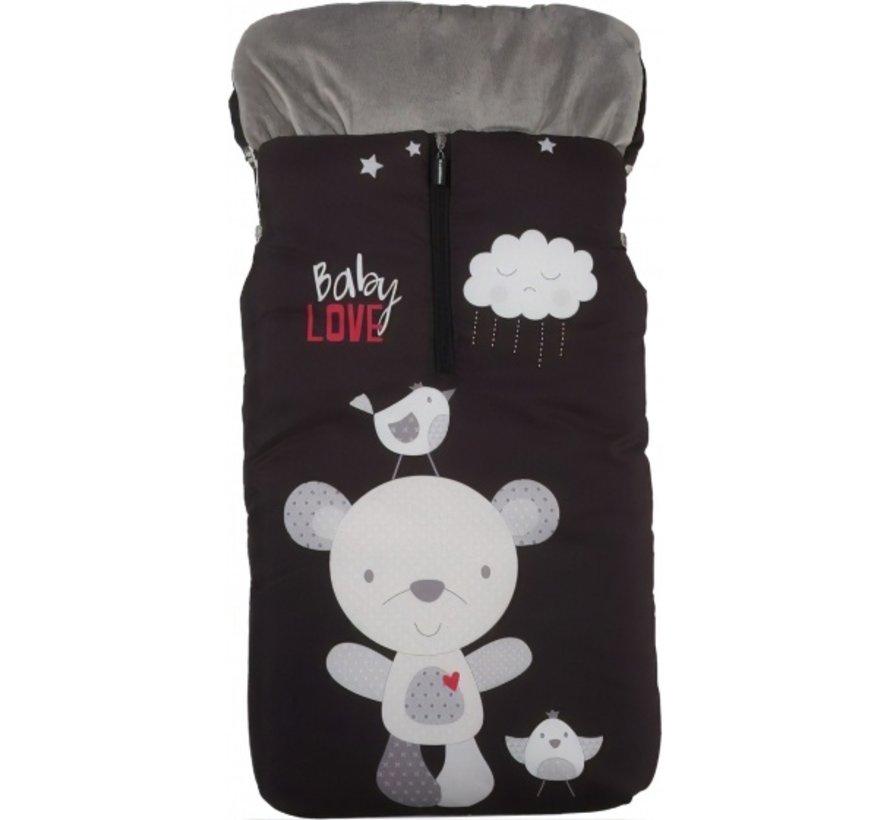 voetenzak Baby Love 105 x 50 cm zwart