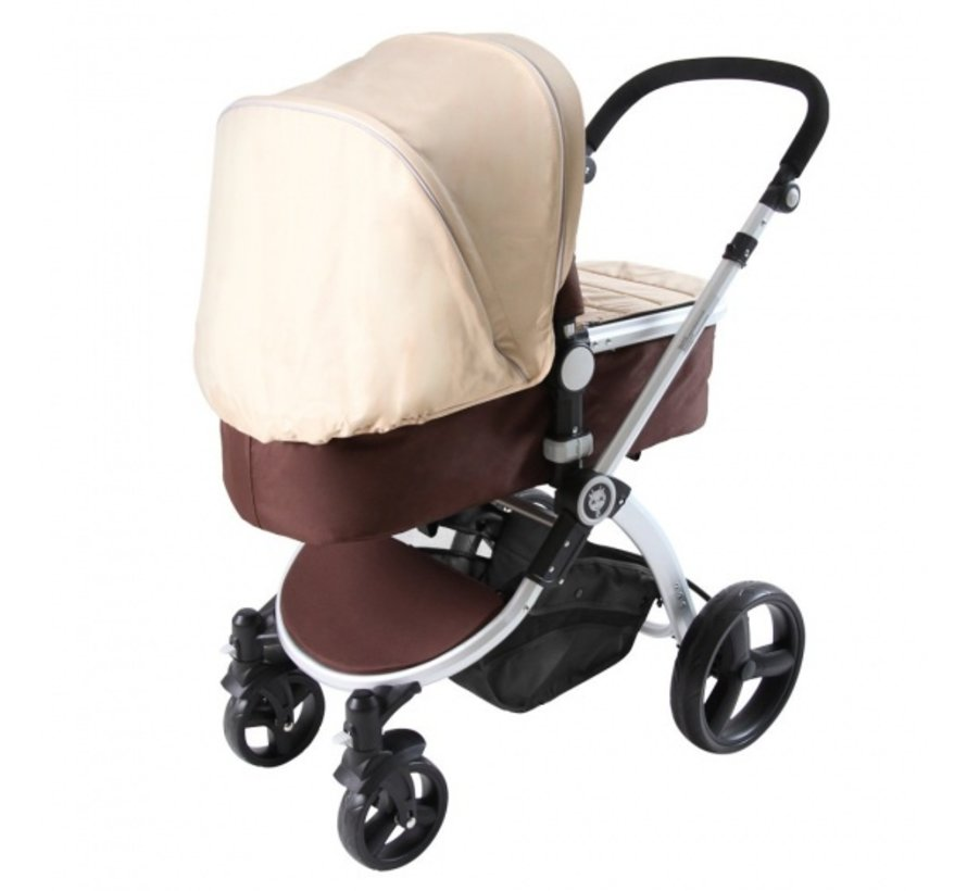 kinderwagen Brownie 2-in-1 inclusief reiswieg bruin
