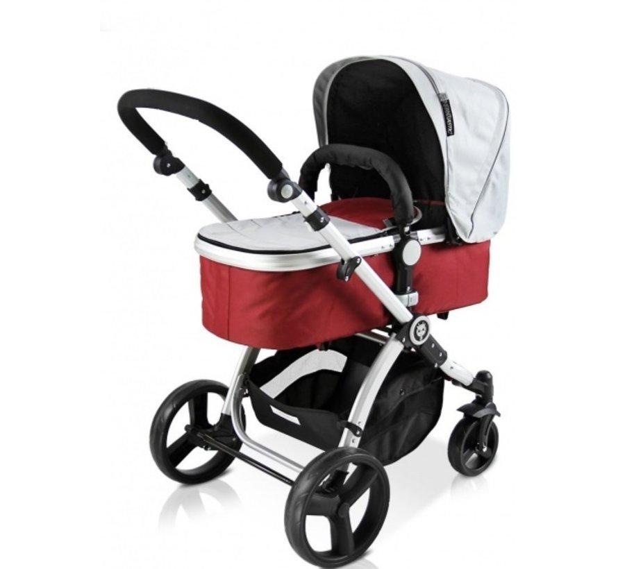 kinderwagen Blush 2-in-1 inclusief reiswieg rood