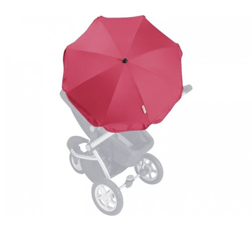 Playshoes Parasol voor kinderwagens set rood