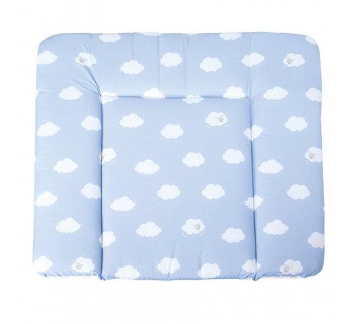 Roba aankleedkussen Wolken 85 x 75 cm polykatoen blauw
