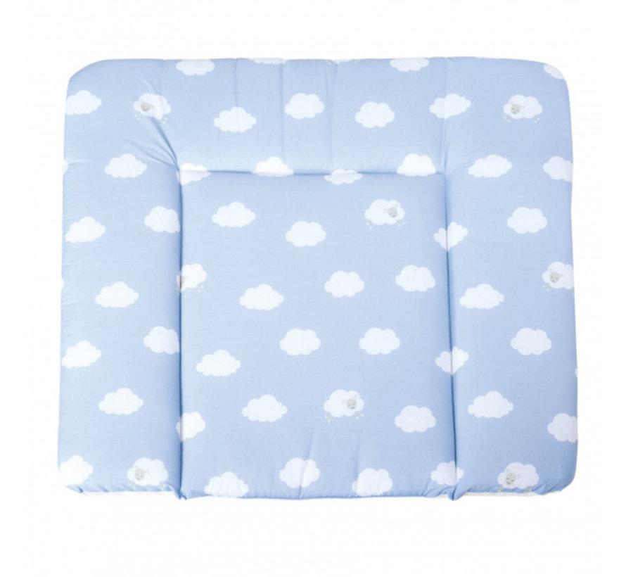 aankleedkussen Wolken 85 x 75 cm polykatoen blauw