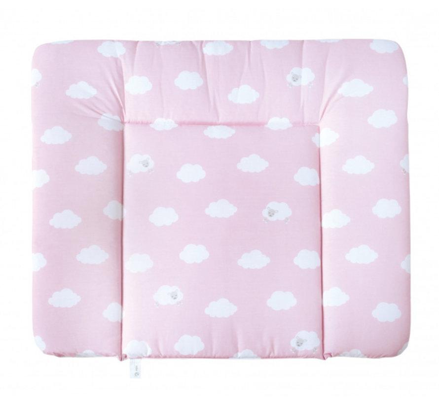 aankleedkussen Wolken 85 x 75 cm polykatoen roze