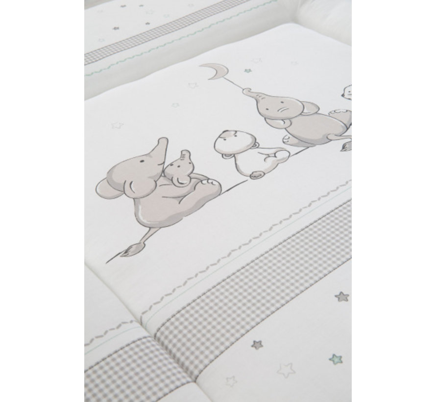 aankleedkussen Sterrenmagie 85 x 75 cm polykatoen grijs