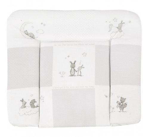 Roba aankleedkussen Fox & Bunny 85 x 75 cm polykatoen grijs