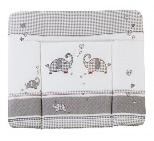 Roba aankleedkussen Jumbotwins 85 x 75 cm polykatoen grijs