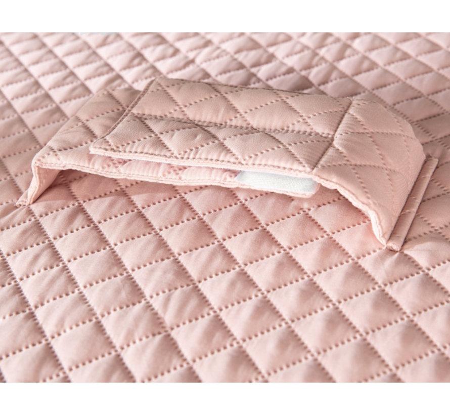 aankleedkussen meisjes 85 x 75 cm polyester roze