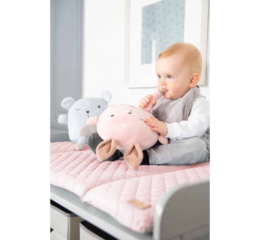 aankleedkussen Lily meisjes 85 x 75 cm polyester roze
