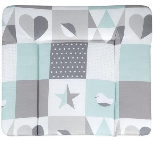 Roba aankleedkussen Happy Patch 85 x 75 cm polyester groen