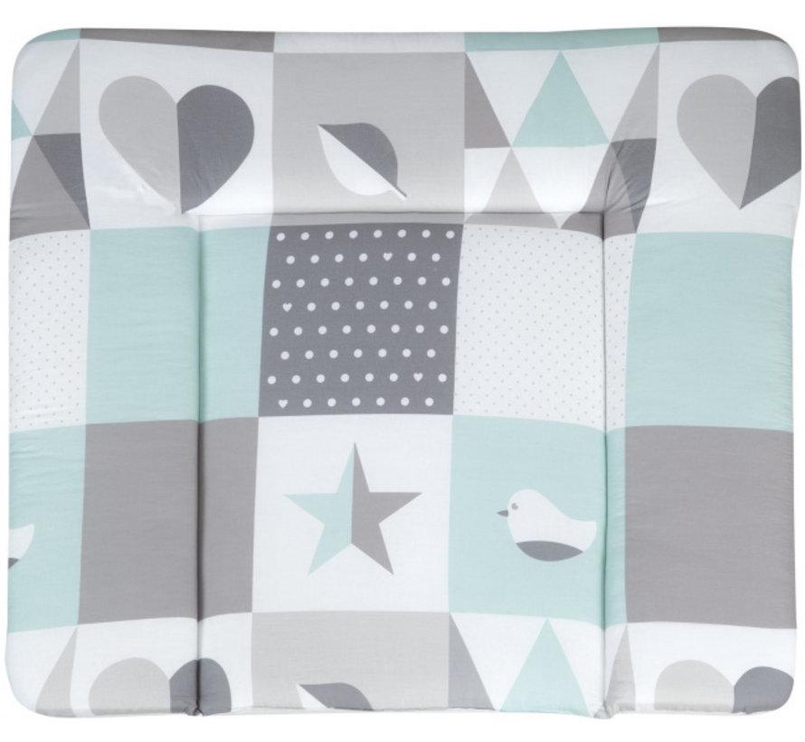 aankleedkussen Happy Patch 85 x 75 cm polyester groen