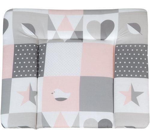 Roba aankleedkussen Happy Patch 85 x 75 cm polyester/katoen